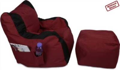 Fun ON XXL Bean Chair Cover(Maroon, Black) at flipkart