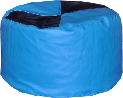 Comfy Bean Bags Large Bean Bag Footstool  With Bean Filling(Blue)