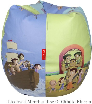 ORKA XXXL Bean Bag Cover  (Without Beans)(Multicolor) at flipkart