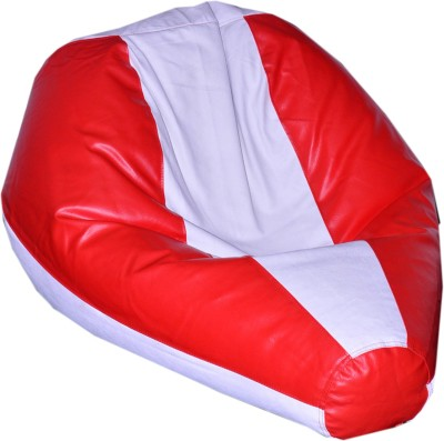 Comfy Bean Bags XXXL Bean Bag Cover  (Without Beans)(Red, White)