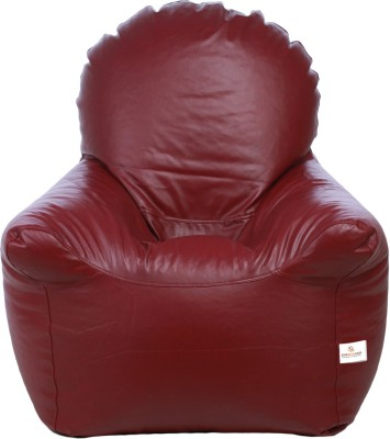 Star XXXL Bean Bag Chair  With Bean Filling(Maroon)