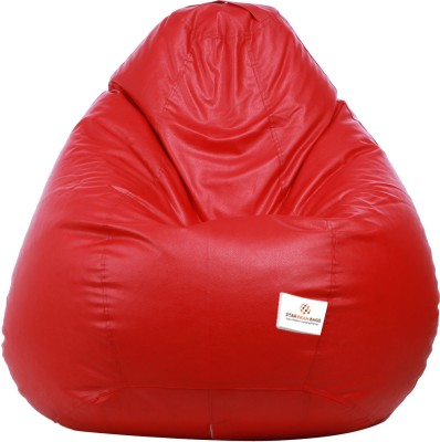 Star XXL Muddha Teardrop Bean Bag  With Bean Filling(Red)