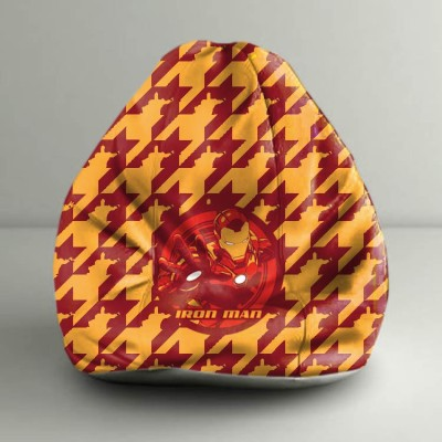 ORKA XXXL Iron Man Character Digital Printed Bean Bag  With Bean Filling(Multicolor) at flipkart