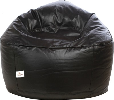 Star XXXL Muddha Sofa Bean Bag Sofa  With Bean Filling(Black)
