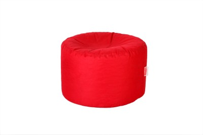 Comfy Bean Bags Large Bean Bag Footstool  With Bean Filling(Red)