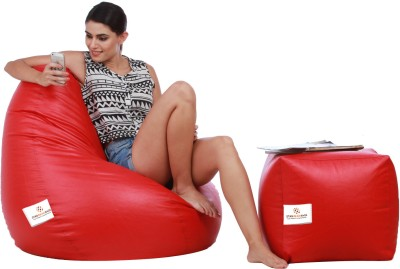 Star XL Bean Bag  With Bean Filling(Red)