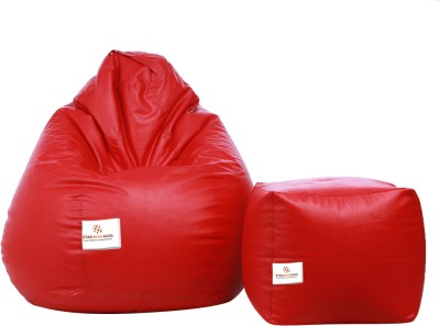Star XXL Bean Bag  With Bean Filling(Red)
