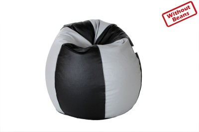 Comfy Bean Bags XXXL Teardrop Bean Bag Cover  (Without Beans)(Black, Grey)