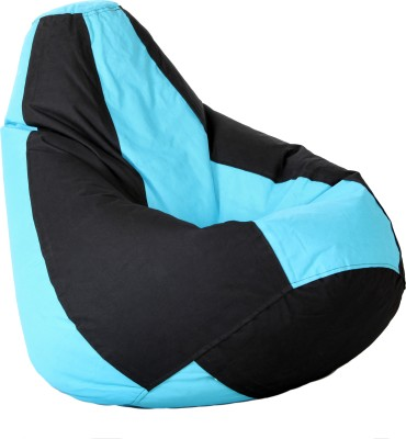 Comfy Bean Bags XXL Bean Bag Cover  (Without Beans)(Blue, Black)