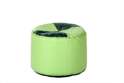 Comfy Bean Bags XL Bean Bag Footstool  With Bean Filling(Green)