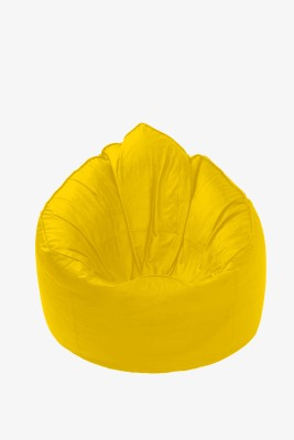 Star XL Muddha Bean Bag Sofa  With Bean Filling(Yellow)