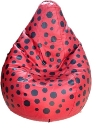 Star XXL Teardrop Bean Bag  With Bean Filling(Red)