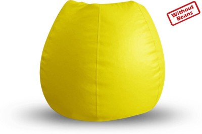 Style Homez XL Teardrop Bean Bag Cover  (Without Beans)(Yellow) at flipkart