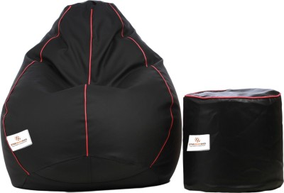 Star XXL Bean Bag  With Bean Filling(Black)