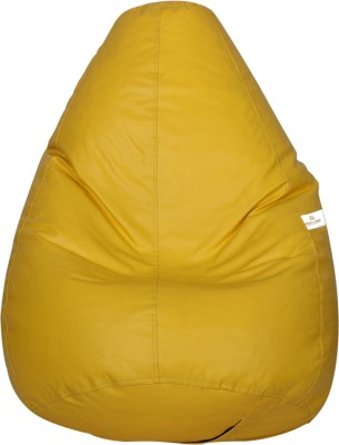 Star XXXL Bean Bag  With Bean Filling(Yellow)