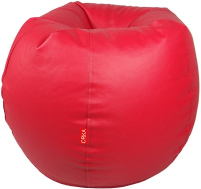 ORKA XXL Bean Bag Cover  (Without Beans)(Red)