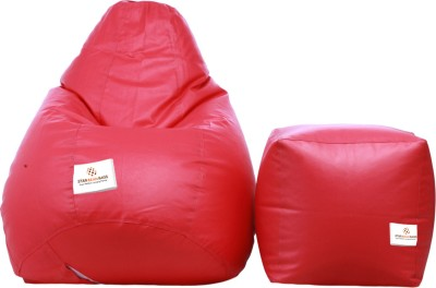 Star XL Bean Bag  With Bean Filling(Pink)