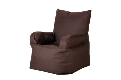 Comfy Bean Bags XXXL Bean Chair Cover  (Without Beans)(Brown)