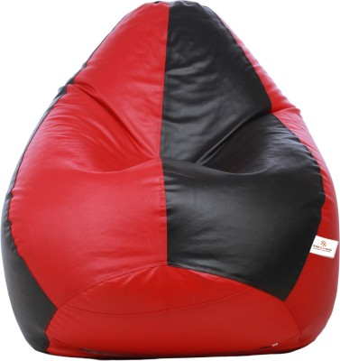 Star XXL Teardrop Bean Bag Teardrop Bean Bag  With Bean Filling(Black, Red)