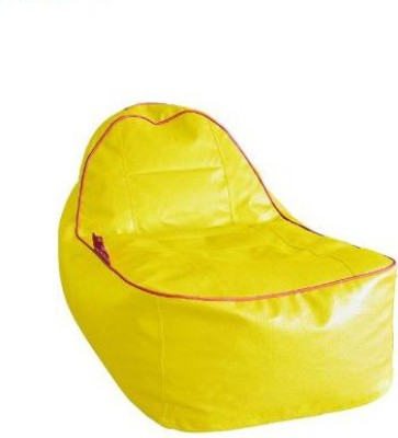 Star XL Lounger Bean Bag  With Bean Filling(Yellow)