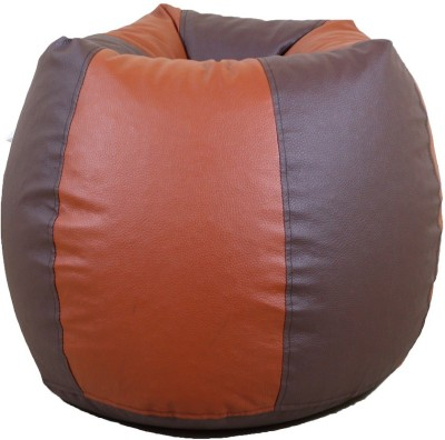 ORKA XXXL Bean Bag Cover  (Without Beans)(Brown, Tan)