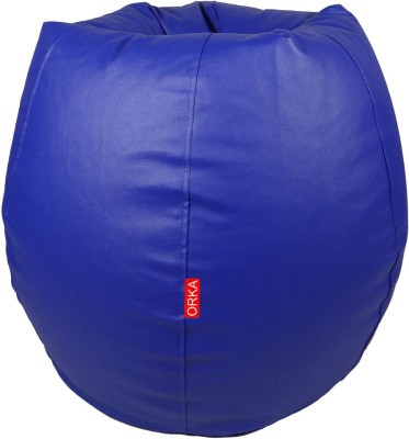 ORKA XXL Bean Bag Cover  (Without Beans)(Blue)