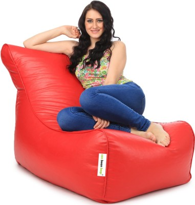 Can bean bags XXXL Bean Bag Cover  (Without Beans)(Red) at flipkart
