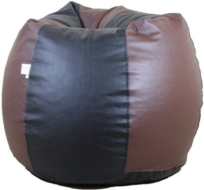 ORKA XXL Bean Bag Cover  (Without Beans)(Brown, Black)