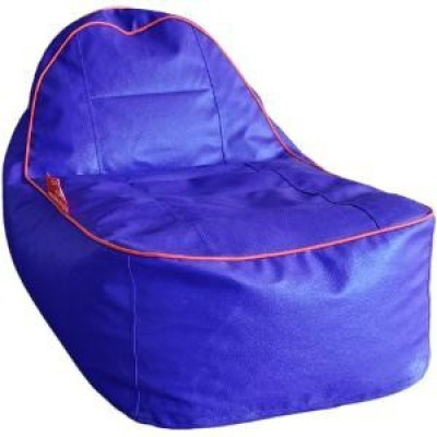 Star XL Lounger Bean Bag  With Bean Filling(Blue)