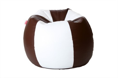 Comfy Bean Bags XXL Bean Bag Cover  (Without Beans)(Brown, White)