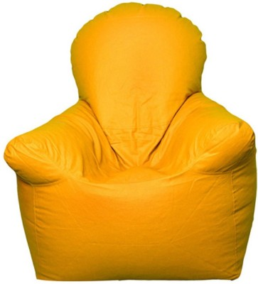 Star XXXL Emperor Arm Chair Bean Bag Chair  With Bean Filling(Yellow)