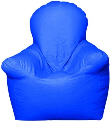 Star XXL Emperor Arm Chair Bean Bag Chair  With Bean Filling(Blue)