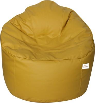 Star XXXL Bean Bag Sofa  With Bean Filling(Yellow)