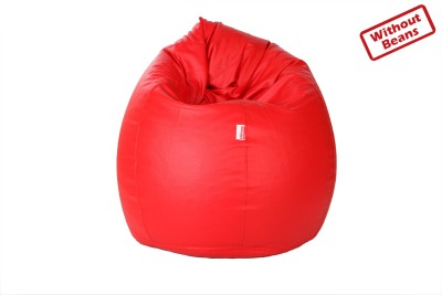 Comfy Bean Bags XXXL Teardrop Bean Bag Cover  (Without Beans)(Red)