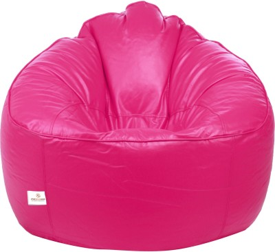 Star XXXL Muddha Bean Bag Sofa  With Bean Filling(Pink)