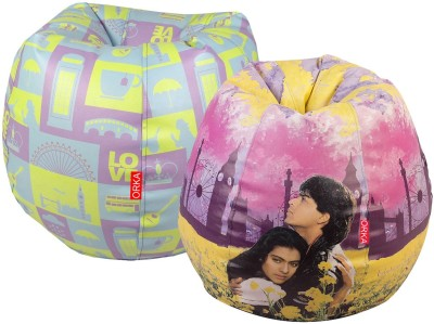 ORKA XXXL Bean Bag Cover  (Without Beans)(Pink, Blue) at flipkart
