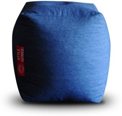 Style Homez Large Ottomans Bean Bag Footstool  With Bean Filling(Blue) at flipkart
