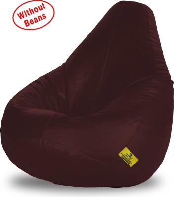 Dolphin Bean Bags XXXL Teardrop Bean Bag Cover  (Without Beans)(Brown) at flipkart