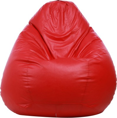 Star XXXL Muddha Teardrop Bean Bag  With Bean Filling(Red)