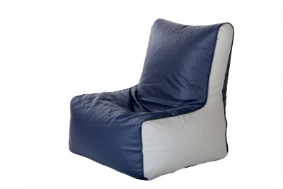 Comfy Bean Bags XXL Bean Chair Cover  (Without Beans)(Blue, Grey)
