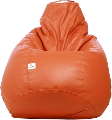 Star XXL Muddha Bean Bag Sofa  With Bean Filling(Orange)