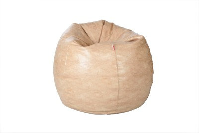 Comfy Bean Bags XL Bean Bag Cover  (Without Beans)(Yellow)