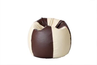 Comfy Bean Bags XXXL Bean Bag Cover  (Without Beans)(Brown)
