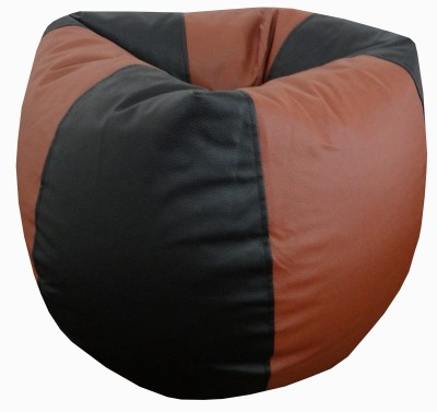 ORKA XL Bean Bag Cover  (Without Beans)(Black, Tan)