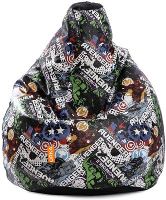 ORKA XXXL Incredible Avengers Digital Printed Bean Bag  With Bean Filling(Multicolor) at flipkart