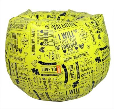 ORKA XXXL Bean Bag Cover  (Without Beans)(Yellow) at flipkart
