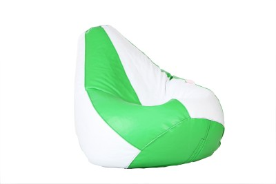 Comfy Bean Bags XXXL Teardrop Bean Bag Cover  (Without Beans)(Green, White)