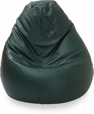 Star XXXL Bean Bag  With Bean Filling(Green)