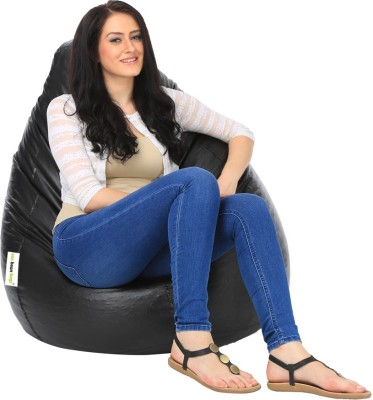 Can bean bags XXL Bean Bag Cover  (Without Beans)(Black)