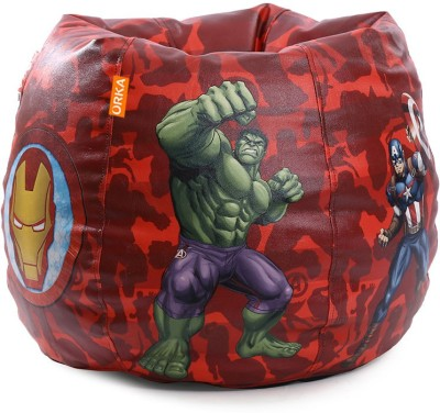 ORKA XXXL Bean Bag Cover  (Without Beans)(Red, Blue) at flipkart